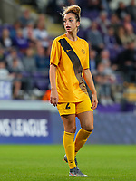 20190912 - Anderlecht , BELGIUM : BIIK-Kazygurt's  Imane Chebel (2) is pictured during the female soccer game between the Belgian Royal Sporting Club Anderlecht Dames  and BIIK Kazygurt from Shymkent in Kazachstan, this is the first leg in the round of 32 of the UEFA Women's Champions League season 2019-20120, Thursday 12 th September 2019 at the Lotto Park in Anderlecht , Belgium. PHOTO SPORTPIX.BE | SEVIL OKTEM