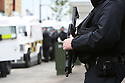 Armed Police from England back up PSNI (Police Service of Northern Ireland) in the center of Belfast ahead of this weeks G8 Summit in Fermanagh, Northern Ireland, Saturday, June 15, 2013. Photo/Paul McErlane.   Northern Ireland, 15 June 2013. Leaders from Canada, France, Germany, Italy, Japan, Russia, USA and UK are meeting at Lough Erne in Northern Ireland for the G8 Summit 17-18 June.