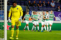 ANDERLECHT, BELGIUM - SEPTEMBER 27 : Leigh Griffiths forward of Celtic FC scores and celebrates  during the Champions League Group B  match between RSC Anderlecht and Celtic FC on September 27, 2017 in Anderlecht, Belgium, 27/09/2017<br /> Foto Photonews/Panoramic