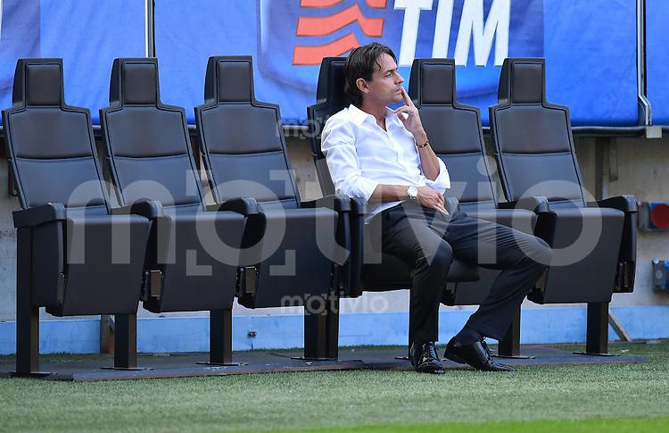 FUSSBALL INTERNATIONAL   SERIE A   SAISON  2014/2015   01. Spieltag AC Mailand - Lazio Rom                      31.08.2014 Trainer Filippo Inzaghi (AC Mailand)