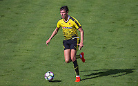 Steven Berghuis of Watford in action during the Pre Season Friendly match between Woking and Watford at the Kingfield Stadium, Woking, England on 10 July 2016. Photo by Andy Rowland.