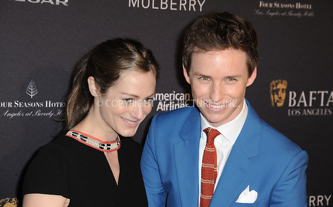 WWW.ACEPIXS.COM<br /> <br /> January 10 2015, LA<br /> <br /> Hannah Bagshawe and Eddie Redmayne attending the 2015 BAFTA Tea Party at The Four Seasons Hotel on January 10, 2015 in Beverly Hills, California.<br /> <br /> By Line: Peter West/ACE Pictures<br /> <br /> <br /> ACE Pictures, Inc.<br /> tel: 646 769 0430<br /> Email: info@acepixs.com<br /> www.acepixs.com