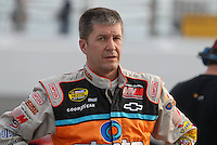 May 4, 2007; Richmond, VA, USA; Nascar Nextel Cup Series driver Ward Burton (4) during qualifying for the Jim Stewart 400 at Richmond International Raceway. Mandatory Credit: Mark J. Rebilas