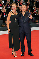 "VENICE, ITALY - SEPTEMBER 01:  Stefano Accorsi and Bianca Vitali walk the red carpet ahead of the ""The Laundromat"" screening during the 76th Venice Film Festival at Sala Grande on September 01, 2019 in Venice, Italy.   (Photo by Mark Cape/Insidefoto)<br /> Venezia 01/09/2019"