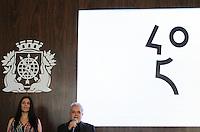 RIO DE JANEIRO, RJ, 21.05.2014  - PREFEITO APRESENTA MARCA COMEMORATIVA DOS 450 ANOS DO RIO DE JANEIRO - O Prefeito Eduardo Paes apresenta a marca das comemorações dos 450 anos da cidade a imagem vencedora concorreu com outras 27 em um concurso público promovido pela prefeitura e a proposta e que ela seja amplamente utilizada pela sociedade e se torne um grande símbolo da data comemorativa. O calendário comemorativo preliminar também será apresentado. No mesmo evento o prefeito assinou o decreto Pro-Carioca que valoriza a memoria e a cultura popular do carioca, e o decreto que abordara a gestão da marca dos 450 anos. No Palácio da Cidade em Botafogo zona sul  da cidade nessa quarta 21. (Foto: Levy Ribeiro / Brazil Photo Press)