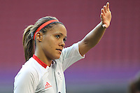 Alex SCOTT of Great Britain thanks the fans after the final whistle - Great Britain Women vs New Zealand Women - Womens Olympic Football Tournament London 2012 Group E at the Millenium Stadium, Cardiff, Wales - 25/07/12 - MANDATORY CREDIT: Gavin Ellis/SHEKICKS/TGSPHOTO - Self billing applies where appropriate - 0845 094 6026 - contact@tgsphoto.co.uk - NO UNPAID USE.