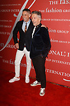 Left designer Jonathan Adler and Simon Doonan, Ambassador-at-Large Barney's, arrive at The Fashion Group International's Night of Stars 2017 gala at Cipriani Wall Street on October 26, 2017.