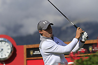 Matthew Fitzpatrick (ENG) tees off the 18th tee during Thursday's Round 1 of the 2017 Omega European Masters held at Golf Club Crans-Sur-Sierre, Crans Montana, Switzerland. 7th September 2017.<br /> Picture: Eoin Clarke | Golffile<br /> <br /> <br /> All photos usage must carry mandatory copyright credit (&copy; Golffile | Eoin Clarke)