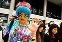 May 8, 2012, Chiba, Japan - A Lady Gaga fan waits upon US singer Lady Gaga's arrival at Narita International Airport. Lady Gaga will participate in three live concerts in Tokyo from May 10-13 as part of her 'Born This Way Ball' tour. (Photo by Christopher Jue/Nippon News)