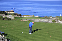 Gerry McIlroy (NIR) tees off the par3 3rd tee at Spyglass Hill during Thursday's Round 1 of the 2018 AT&amp;T Pebble Beach Pro-Am, held over 3 courses Pebble Beach, Spyglass Hill and Monterey, California, USA. 8th February 2018.<br /> Picture: Eoin Clarke | Golffile<br /> <br /> <br /> All photos usage must carry mandatory copyright credit (&copy; Golffile | Eoin Clarke)