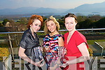 Catriona McCarthy, Ballyheigue, Caroline Matthews, Tralee, of Caroline Atelier Designs winner of Kerry Fashion Designer of the year, and Lisa O'Connor, Firies at the Fashion Awards Lunch at the Aghadoe Heights Hotel, Killarney on Sunday.