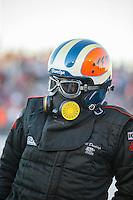 Jul 29, 2016; Sonoma, CA, USA; NHRA nostalgia top fuel driver Bill Dunlap during qualifying for the Sonoma Nationals at Sonoma Raceway. Mandatory Credit: Mark J. Rebilas-USA TODAY Sports