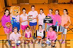 Pint for girls<br /> ----------------<br /> Members of Team Garvey's basketball team, Tralee pictured before a training session last Friday evening launching their fundraiser &quot;Paint Pink for October&quot; for breast cancer at Mounthawk, Front, L-R Courtney Ryan, Juanita Robayo, Rheanne O'Shea and Cassandra Buckley, back L-R Deirdre Geaney, Garveys, Laura Hoffman, Roisin Lucey, Amanda Brosnan, Aoife Crowley and Grain Quigley