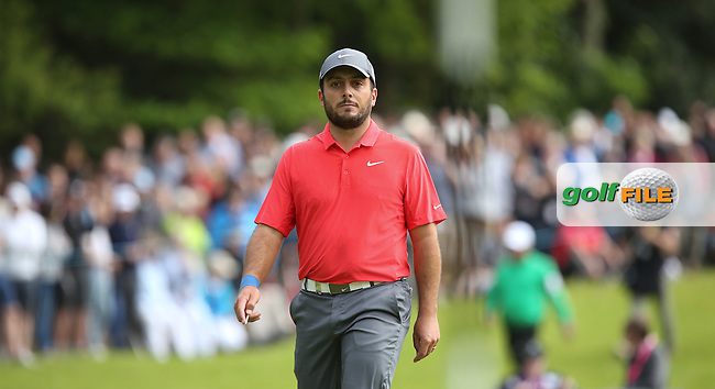 Francesco Molinari (ITA) is joint leader after a round of 68, joined by Byeong Hun-An (KOR) during Round Three of the 2015 BMW PGA Championship over the West Course at Wentworth, Virginia Water, London. 23/05/2015. Picture David Lloyd | www.golffile.ie.