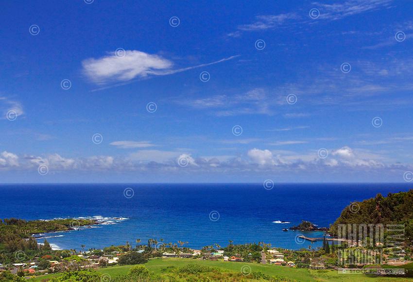 View from Fagan's cross on a beautiful day in Hana, Maui, Hawaii.