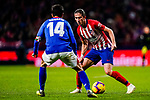 Filipe Luis of Atletico de Madrid (R) is tackled by Markel Susaeta Laskurain of Athletic de Bilbao during the La Liga 2018-19 match between Atletico de Madrid and Athletic de Bilbao at Wanda Metropolitano, on November 10 2018 in Madrid, Spain. Photo by Diego Gouto / Power Sport Images