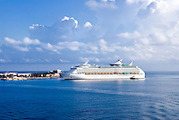 Explorer of the Seas cruise ship docked in Bermuda. Royal Caribbean Voyager line.