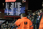 Home supporters watching the last of the action at the Britannia Stadium, Stoke-on-Trent, during the UEFA Europa League last 32 first leg between Stoke City and visitors Valencia. The match ended in a 1-0 victory from the visitors from Spain. Mehmet Topal scored the only goal in the first half in a match watched by a crowd of 24,185.