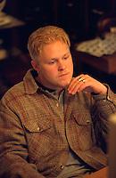 Man age 22 thinking deep thoughts.  St Paul  Minnesota USA