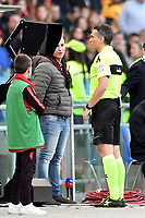 Referee Massimiliano Irrati check the VAR during the Serie A 2018/2019 football match between AS Roma and UC Sampdoria at stadio Olimpico, Roma, November, 11, 2018 <br />  Foto Andrea Staccioli / Insidefoto