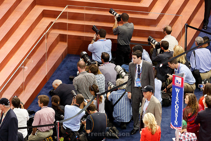Trent Nelson  |  The Salt Lake Tribune.photographers at the Republican National Convention in Tampa, Florida, Thursday, August 30, 2012.