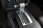 High angular view of a 2007 Ford Mustang GT Coupe gear shift..