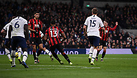 30th November 2019; Tottenham Hotspur Stadium, London, England; English Premier League Football, Tottenham Hotspur versus AFC Bournemouth; Harry Wilson of Bournemouth shoots and scores his second goal in 90th minute 3-2 - Strictly Editorial Use Only. No use with unauthorized audio, video, data, fixture lists, club/league logos or 'live' services. Online in-match use limited to 120 images, no video emulation. No use in betting, games or single club/league/player publications