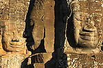 Asie, Cambodge, site archéologique d'Angkor classé par l'Unesco, Angkor Thom, temple du Bayon, visage du Lokesvara//Asia, Cambodia, Angkor archaeological site classified by the Unesco, Angkor Thom, Bayon temple, faces of Lokesvara