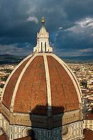 Italien, Toskana, Florenz, Blick von Campanile, Domkuppel, Unesco-Weltkulturerbe