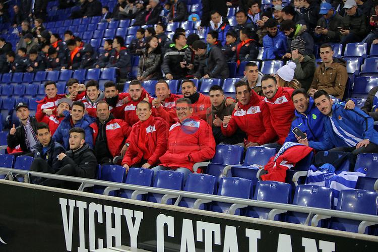 League Santander 2016/2017. Game: 22.<br /> RCD Espanyol vs Real Sociedad: 1-2.<br /> UE Castellar.