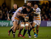 Bath Rugby's Elliott Stooke in action during todays match<br /> <br /> Photographer Bob Bradford/CameraSport<br /> <br /> European Rugby Heineken Champions Cup Pool 1 - Bath Rugby v Wasps - Saturday 12th January 2019 - The Recreation Ground - Bath<br /> <br /> World Copyright &copy; 2019 CameraSport. All rights reserved. 43 Linden Ave. Countesthorpe. Leicester. England. LE8 5PG - Tel: +44 (0) 116 277 4147 - admin@camerasport.com - www.camerasport.com