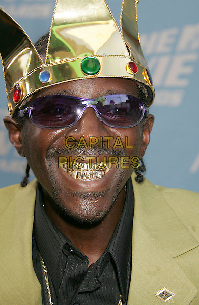 FLAVOUR FLAV.The 2006 MTV Movie Awards - Arrivals, .Culver City, Los Angeles, California, .USA, 3 June 2006..portrait headshot crown funny  green suitgold teeth glasses purple sunglasses.Ref: ADM/RE.www.capitalpictures.com.sales@capitalpictures.com.©Russ Elliot/AdMedia/Capital Pictures.