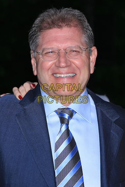 ROBERT ZEMECKIS.Attend the 9th Annual Tribeca Film Festival Vanity Fair Party held at the New York State Supreme Courthouse, New York, NY, USA.              .headshot portrait glasses blue striped smiling tie.CAP/LNC.©TOM/LNC/Capital Pictures.