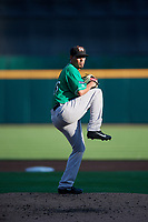 Norfolk Tides starting pitcher Luis Gonzalez (46) during an International League game against the Buffalo Bisons on June 22, 2019 at Sahlen Field in Buffalo, New York.  Buffalo defeated Norfolk 3-0.  (Mike Janes/Four Seam Images)