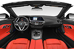 Stock photo of straight dashboard view of 2019 BMW Z4 Sport 2 Door Convertible Dashboard
