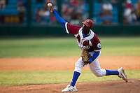 15 February 2009: Right pitcher Jonder Martinez of the Occidentales pitches during a training game of Cuba Baseball Team for the World Baseball Classic 2009. The national team is pitted against itself, divided in two teams called the Occidentales and the Orientales. The Orientales win 12-8, at the Latinoamericano stadium, in la Habana, Cuba.