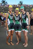 Triatlón Sports World Veracruz 2013- Elisa Coll, Tania Monterd, Larissa Barquet. ©NortePhoto.com ..<br /> YahirCeballos/NortePhoto