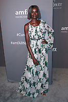 NEW YORK, NY - FEBRUARY 6: Duckie Thot arriving at the 21st annual amfAR Gala New York benefit for AIDS research during New York Fashion Week at Cipriani Wall Street in New York City on February 6, 2019. <br /> CAP/MPI99<br /> &copy;MPI99/Capital Pictures