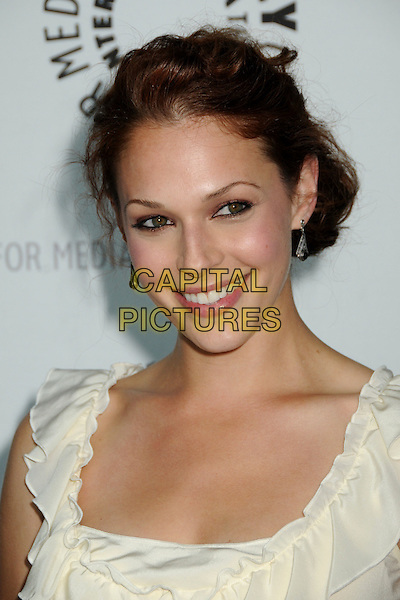 """AMANDA RIGHETTI .The 26th Annual William S. Paley Television Festival presents """"The Mentalist"""" held at Arclight Cinemas,  Hollywood, CA, USA, 17th April 2009..portrait headshot  white cream top ruffle .CAP/ADM/BP.©Byron Purvis/Admedia/Capital Pictures"""