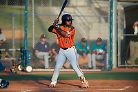 AZL Giants Orange Andrew Caraballo (1) at bat during an Arizona League game against the AZL Mariners on July 18, 2019 at the Giants Baseball Complex in Scottsdale, Arizona. The AZL Giants Orange defeated the AZL Mariners 7-4. (Zachary Lucy/Four Seam Images)