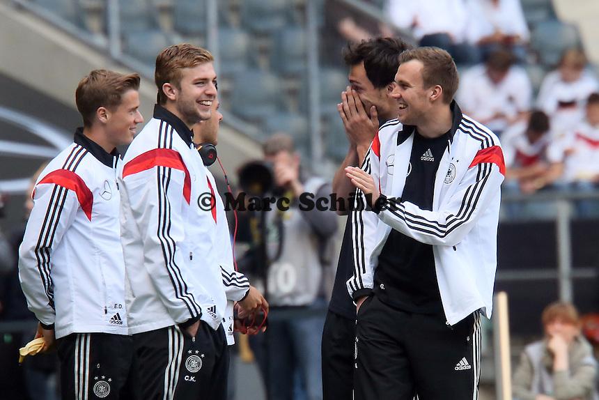 Christoph Kramer und Kevin Großkreutz haben Spaß - Deutschland vs. Kamerun, Mönchengladbach