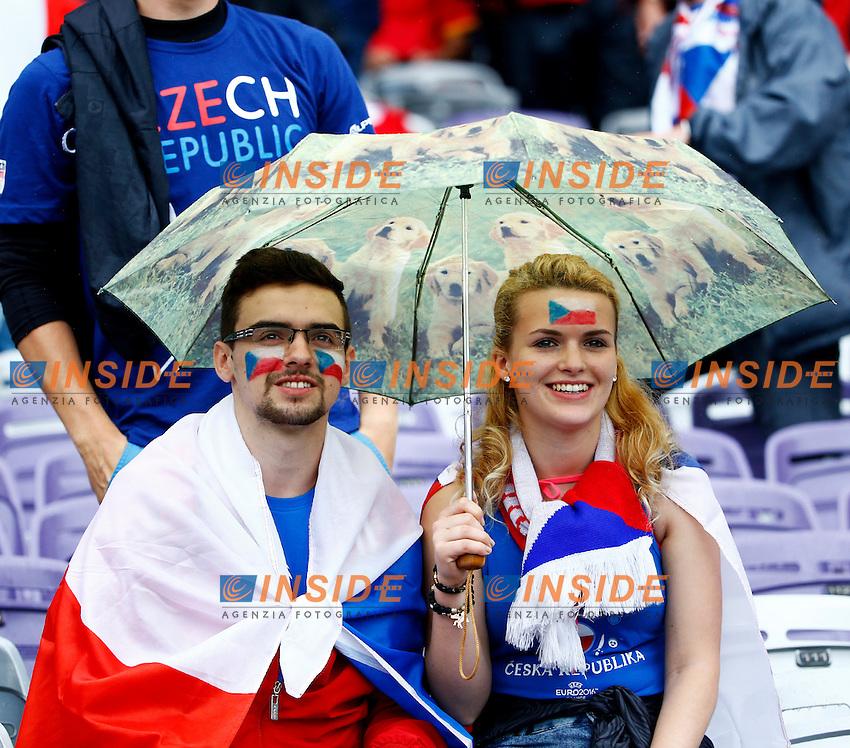 Tifosi Repubblica Ceca<br /> Toulouse 13-06-2016 Stade Municipal Footballl Euro2016 Spain - Czech Republic  / Spagna - Repubblica Ceca Group Stage Group D. Foto Matteo Ciambelli / Insidefoto