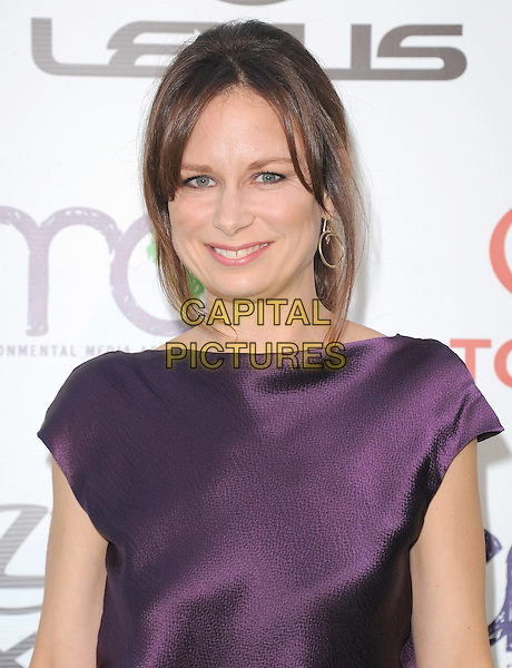 Mary Lynn Rajskub .attends The 21st Annual Environmental Media Awards held at at Warner Bros. Studios in Burbank, California, USA, October 15th 2011..portrait headshot smiling  silk satin  purple .CAP/RKE/DVS.©DVS/RockinExposures/Capital Pictures.