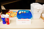 Snacks on a counter at the Sun City Ballroom Dance Club's weekly dance in Bell's Social Hall December 1, 2013.