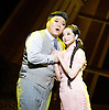 Thunderstorm <br /> by MO Fan <br /> based on the drama by Cao Yu <br /> Shanghai Opera House at The London Coliseum, London, Great Britain <br /> rehearsal <br /> 10th August 2016 <br /> <br /> <br /> <br /> Han Peng as Zhou Ping <br /> <br /> Ji Yunhui as Sifeng <br /> <br /> <br /> Photograph by Elliott Franks <br /> Image licensed to Elliott Franks Photography Services