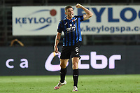 24th June 2020, Bergamo, Italy; Seria A football league, Atalanta versus Lazio;  Atalantas Robin Gosens celebrates as he scores his goal for 1-2 in the 38th minute