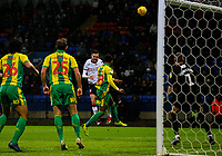 Bolton Wanderers' Craig Noone heads over under pressure from West Bromwich Albion's Mason Holgate<br /> <br /> Photographer Alex Dodd/CameraSport<br /> <br /> The EFL Sky Bet Championship - Bolton Wanderers v West Bromwich Albion - Monday 21st January 2019 - University of Bolton Stadium - Bolton<br /> <br /> World Copyright © 2019 CameraSport. All rights reserved. 43 Linden Ave. Countesthorpe. Leicester. England. LE8 5PG - Tel: +44 (0) 116 277 4147 - admin@camerasport.com - www.camerasport.com