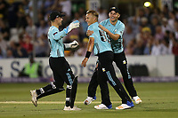 Tom Curran of Surrey celebrates taking the wicket of Ashar Zaidi during Essex Eagles vs Surrey, NatWest T20 Blast Cricket at The Cloudfm County Ground on 7th July 2017