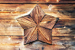 The Sawaguchi family crest, which is said to resemble the Star of David, is nailed to an exterior wall of the home of Sanjiro Sawaguchi, who claims to be a direct descendent of Jesus Christ, in Shingo Village, Aomori Prefecture, northern Japan. Some residents of Shingo say that Jesus spent 12 years in Japan and is buried in the village. Among them is Sajiro Sawaguchi, who is in his 80s, who claims to be a descendant of Christ and whose family owns the land containing Christ's grave.