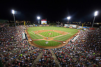 A general view during a game between the Northwest Arkansas Naturals and Springfield Cardinals at Hammons Field on August 23, 2013 in Springfield, Missouri. (David Welker/Four Seam Images)